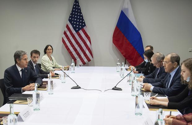 Встреча американских и российских дипломатов в Рейкьявике, Исландия (Saul Loeb / Pool Photo via AP)