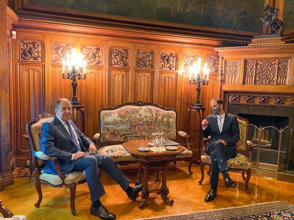Министр Лугар на рабочем совещании в Российской Федерации