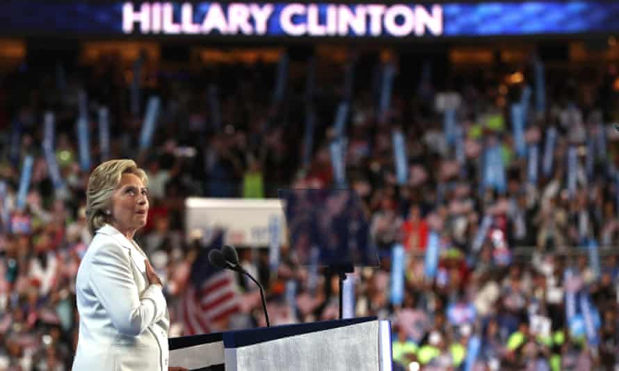 Кандидат в президенты от демократов Хиллари Клинтон на съезде партии в Филадельфии, штат Пенсильвания, в июле 2016 года.
