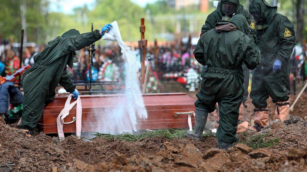 В России установлено рекордное ежедневное число погибших от COVID-19